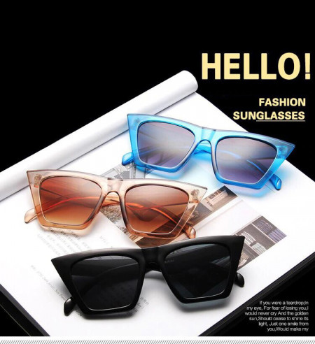 Ochelari de soare vintage cu model patrat Giuliana Leopard