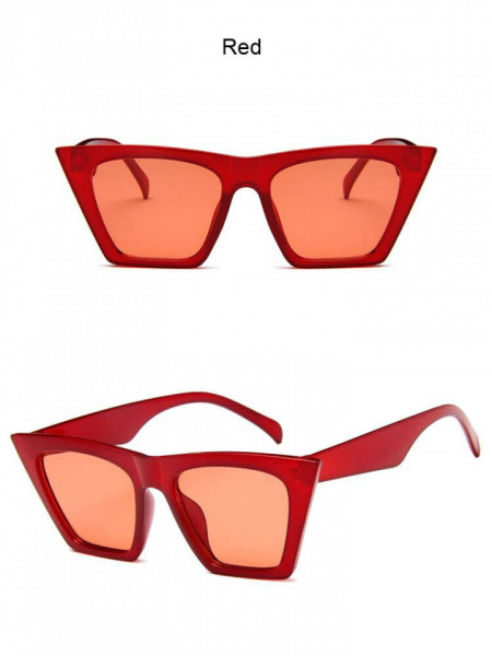Ochelari de soare vintage cu model patrat Giuliana rosu