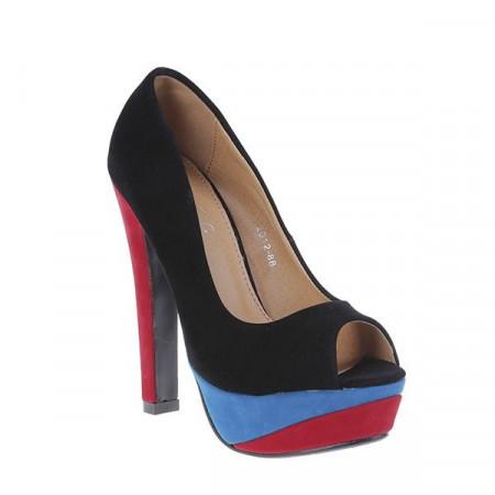 Pantofi cu platfroma din velur Lorena