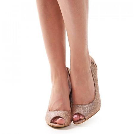 Pantofi cu toc de ocazie Amira bronze