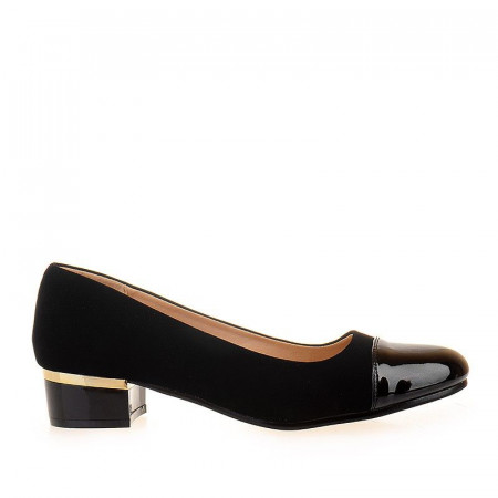 Pantofi cu toc mic confortabil Abelle negru