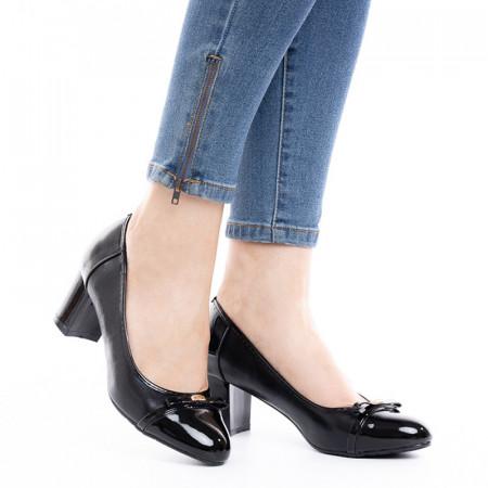 Pantofi dama office cu toc mic Daria