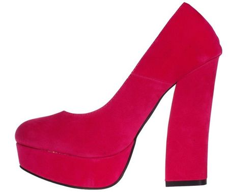 Pantofi fuchsia cu toc gros Odetta