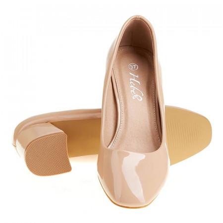 Pantofi office cu toc mediu Alberta nude