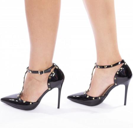 Pantofi stiletto cu toc inalt si tinte Amalia