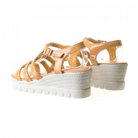Sandale cu platforma Ema camel