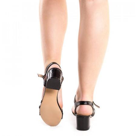 Sandale elegante cu toc mic Debora negru