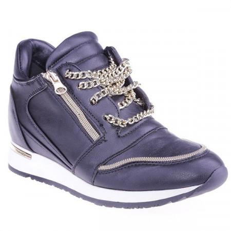Sneakers Dyna black cu siret