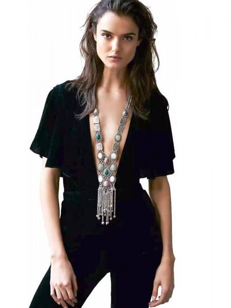 Colier fashion statement lung Reina
