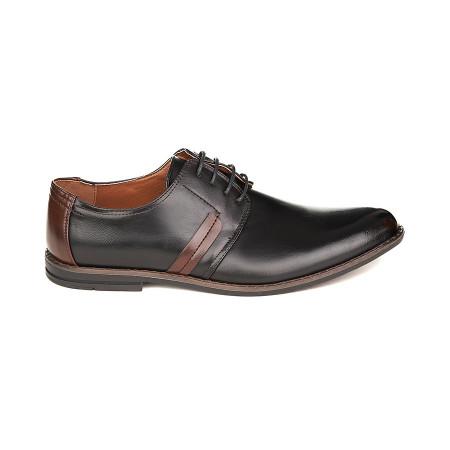 Pantofi casual barbati cu șiret Alexandru negru