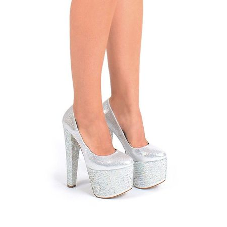 Pantofi cu platforma silver Mia