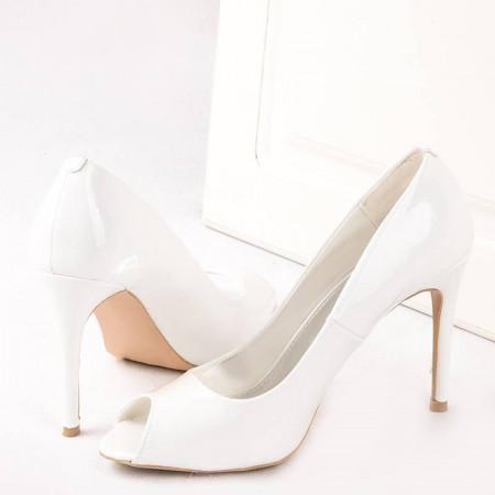 Pantofi cu toc peep toe Anita