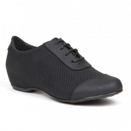 Pantofi dama casual, Negru cu siret