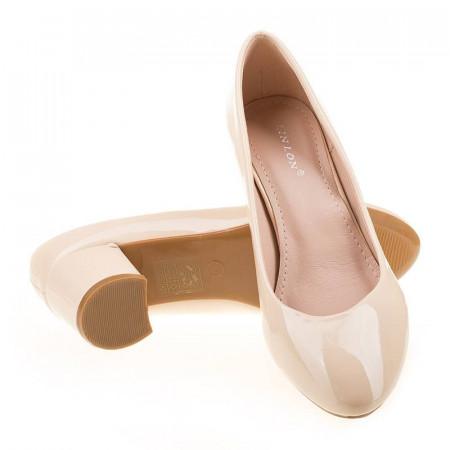 Pantofi office chic Lilia bej