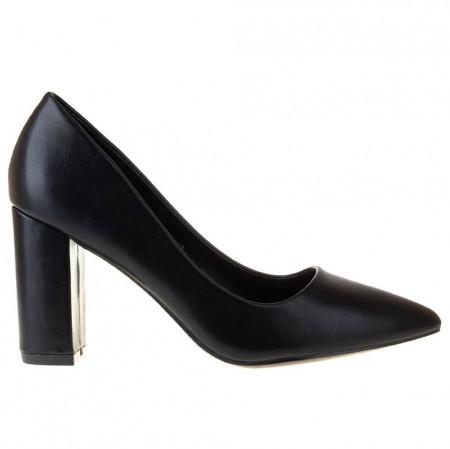 Pantofi office stiletto cu toc gros Ambrosia