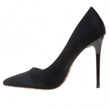 Pantofi stiletto cu toc inalt din velur Martina