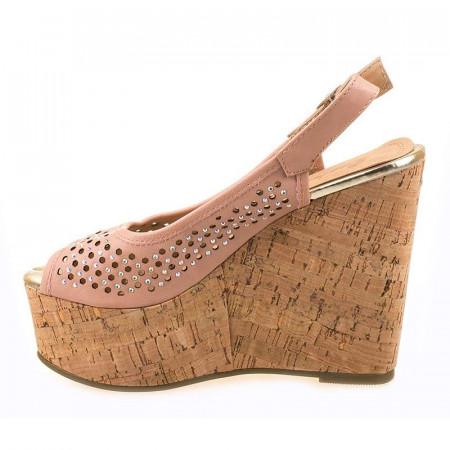 Sandale cu platforma Mia roz