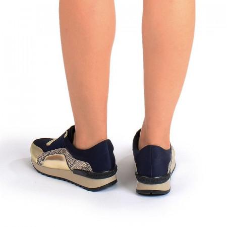 Sneakers stil balenciaga gold Bianca