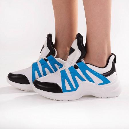 Sneakers trendy Camelia blue sky