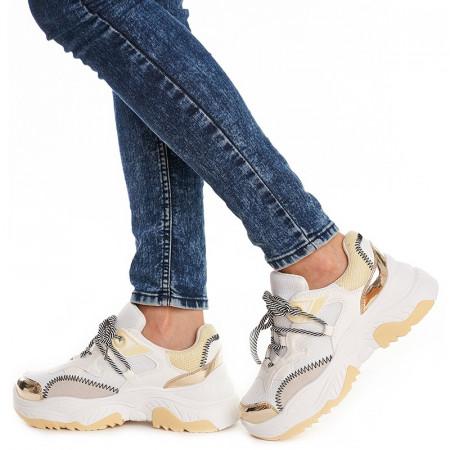 Sneakers trendy Sofia alb