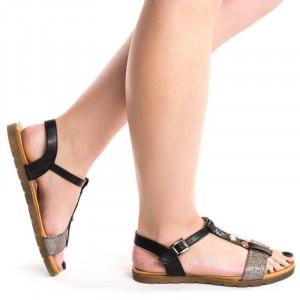 Sandale cu talpa joasa Akemi negre