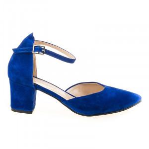 Sandale elegante cu toc mic lora blue