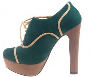 Botine verzi cu platforma verde Xuxa