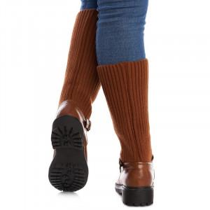 Cizme casual cu material textil elastic Mia