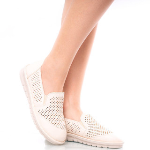 Pantofi casual cu talpa usoara Ania bej
