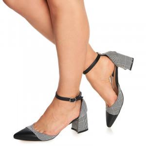 Pantofi cu toc mic gros Ecaterina