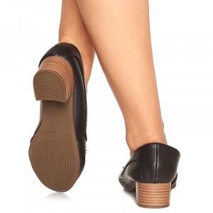 Pantofi cu toc mic Maria negru