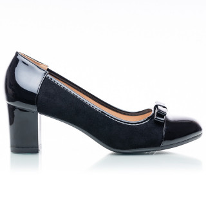 Pantofi dama cu toc mic si velur Karishma