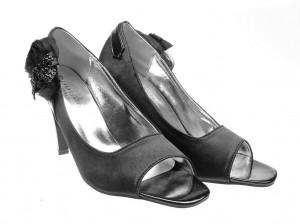 Pantofi de dama black satin Sweet