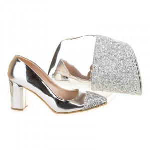 Pantofi de ocazie cu poseta inclusa Bianca
