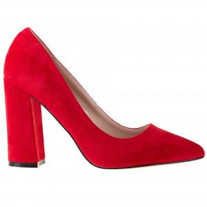 Pantofi office cu toc gros din velur Salma