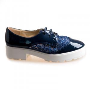Pantofi sport cu siret Celia blu