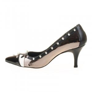 Pantofi stiletto Amira argintiu
