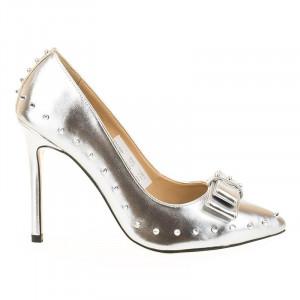 Pantofi stiletto cu tinte Coco arginto