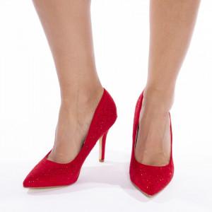 Pantofi stiletto cu toc inalt din velur Gloria
