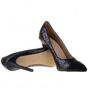 Pantofi stiletto cu toc inalt glitter Samantha