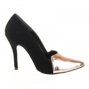 Pantofi stiletto la metalic Coco bronze