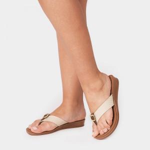Papuci Dama MILA, Beige