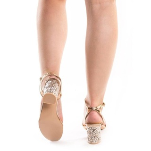 Sandale cu toc chic Gerasole bronze