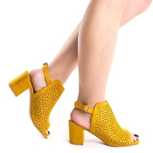 Sandale cu toc gros Chika kiiro