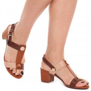 Sandale cu toc mic Maria