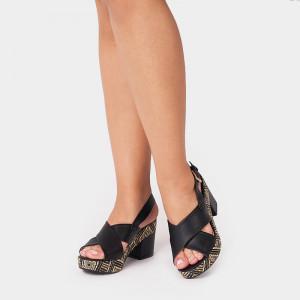 Sandale dama, CINTA, Negru