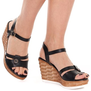 Sandale dama cu platforma Olivia negru