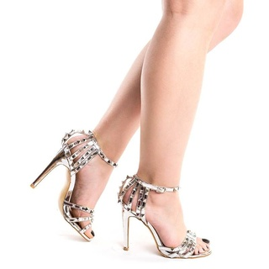 Sandale dama cu toc si tinte elegante Amira argintiu