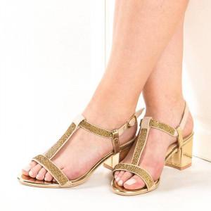 Sandale de ocazie cu toc mic Amalia
