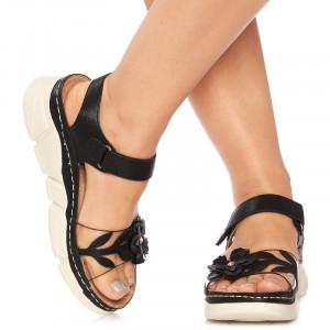 Sandale Negre Piele Rosaria